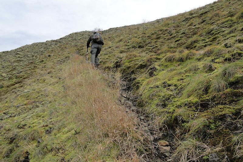 Heading up the West side ridge.