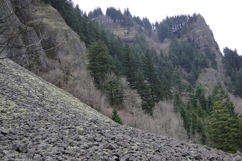Looking back up to the SE Viewpoint.
