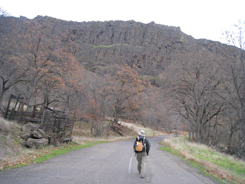 The trail begins about 4 miles East of Bingen on the Washington side of the Columbia River. The first three quarters of a mile are along the old abandoned Washington Highway 8.