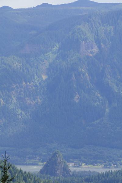 Looking down from Kueffler Road to Beacon Rock.