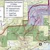 Cruzatt Rim Trail System Reference Map.