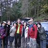 Back at trailhead<br /> L to R: Chiyoko, Chizuru, Mana, Pascal, Kazuko, Gregg, Guy & Keiko.