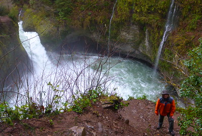 A very wet day on Eagle Creek - 2015/01/18