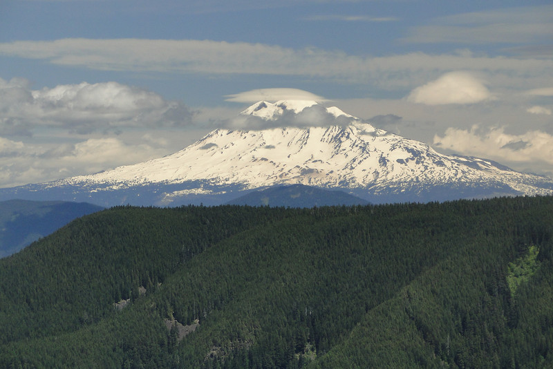 Looking East over the Benson Plateau to Mt. Adams.