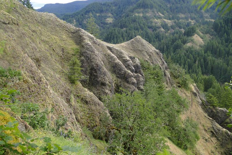 Regaining the ridge.