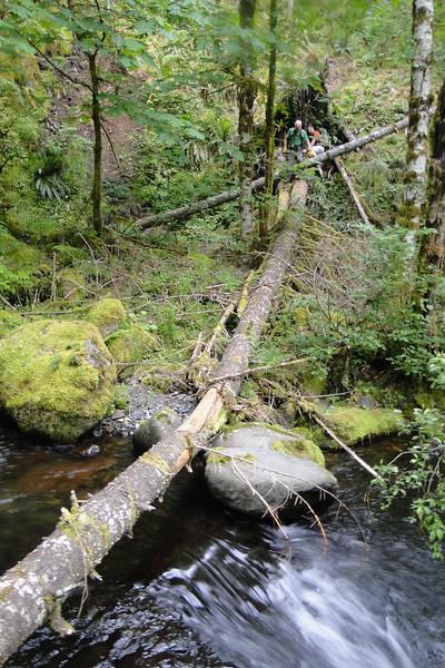 The bridge across Tenas Creek.