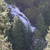 View of the Upper tier of Falls Creek Falls from a bluff off the Upper trail.