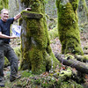The Mindolovich Trail Sign.<br /> Mark Mindolovich recently posted an old photograph of this sign being hung in 1967.<br /> Don with a photo of the sign being hung.