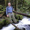RJT<br /> Peter on the first (of many) Horsetail Creek Crossings.