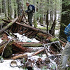 Success! We found the remains of the reported cabin but sadly there was very little left!