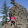 Chiyoko makes a break for the summit! <I>Not really!</I>