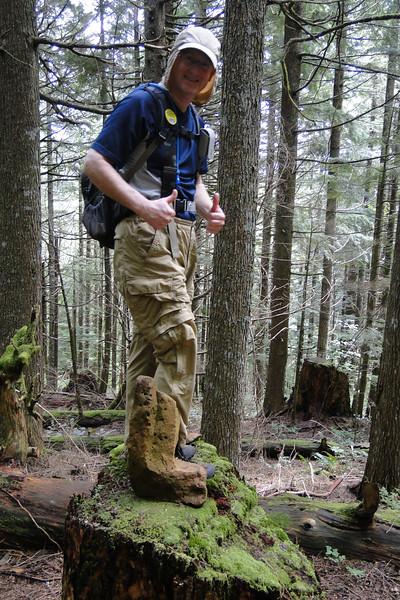 Rock Boot on the East side Hardy Ridge Trail.