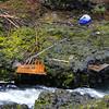 Fishing platforms on the Klickitat River.