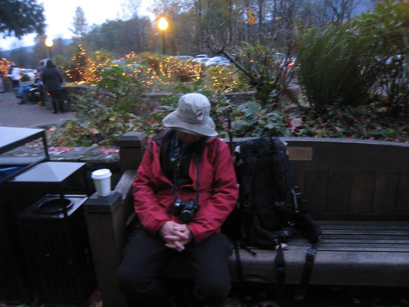 Back at Multnomah Falls - Coffee & Nap Time. <FONT SIZE=1>© Chiyoko Meacham</FONT>