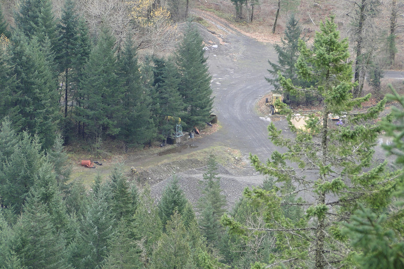 Looking down onto the Gravel Pit area where we had entered the trees on the way to the base of the Falls.