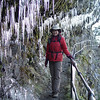 Ice below - Icicles above & a couple of hundred feet drop on the right :^)..