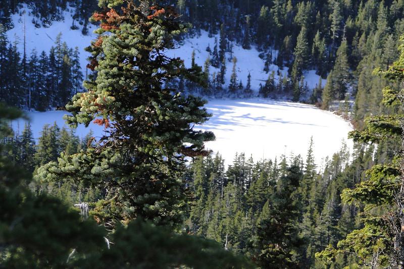 Looking down on Bear Lake.