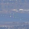Zoomed in on the Hood River Bridge.