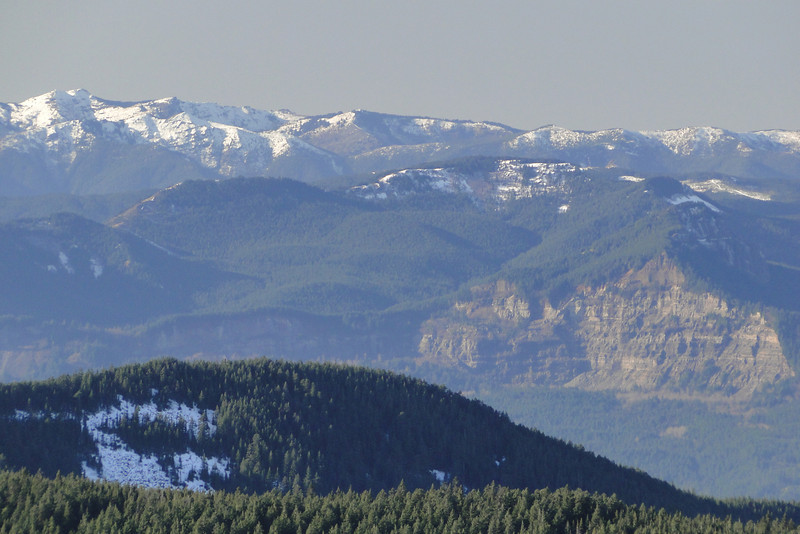 Looking North West over to Greenleaf Mountain.