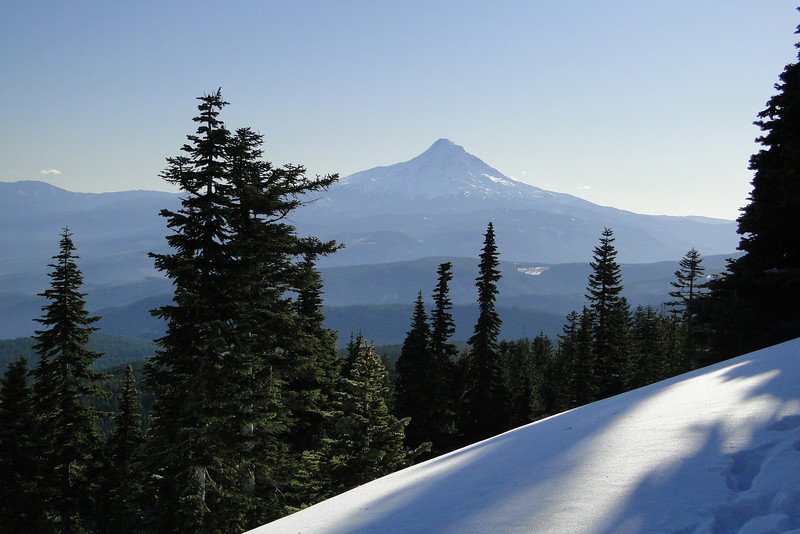 The first view of Mt. Hood.