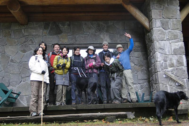 Nesika Lodge<br /> Kazuko, Chizuru, Pascal, Mana, Junko, Chiyoko, Greg, Keiko, Guy.