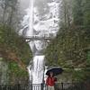 <FONT SIZE=1>© Chiyoko Meacham</FONT> An icy Multnomah Falls