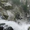 An icy Multnomah Falls