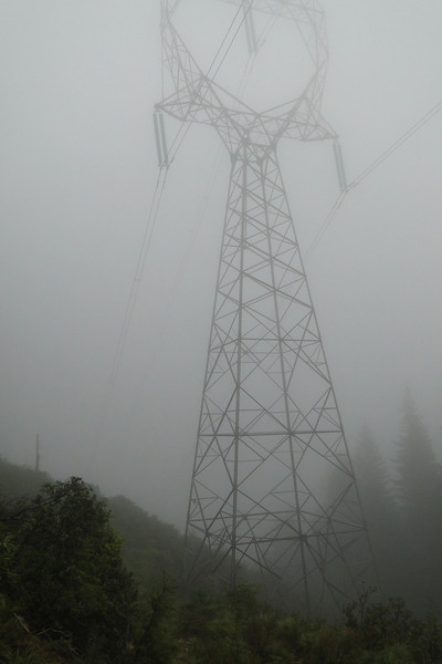 The ridge ends at the Powerlines.