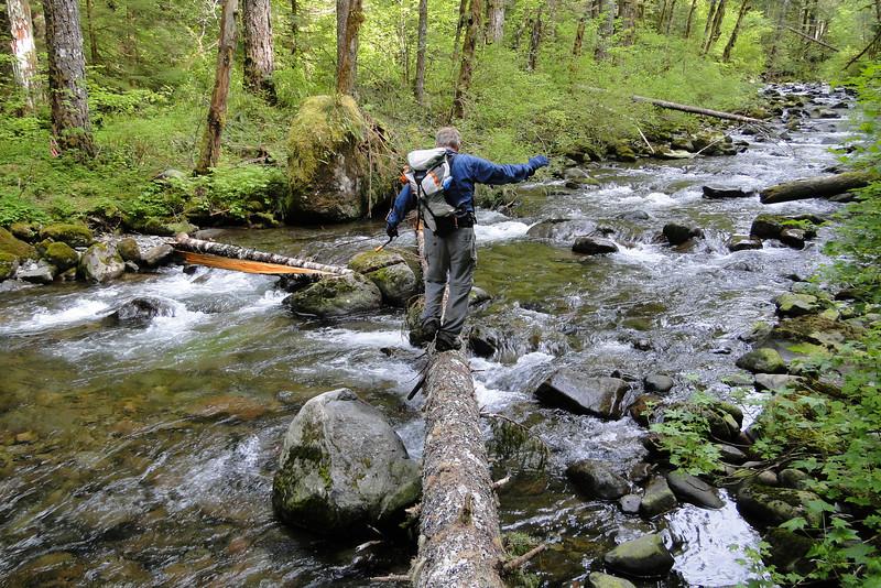 Crossing Tanner Creek.