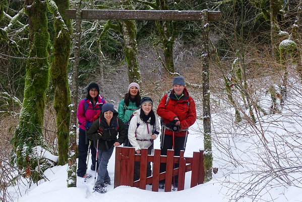 Larch Mt gate to Nesika Lodge - 2016/12/26