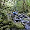 Beginning our treck up Opal Creek.