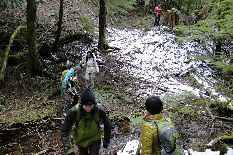 Crossing Prindle Creek.
