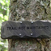This is the only sign you will see about 50' up the trail.