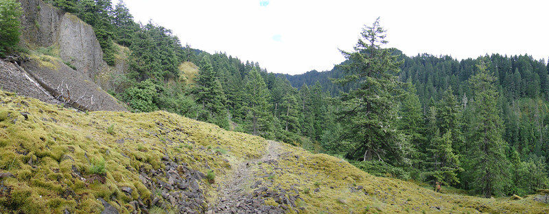 Ruckel Creek Trail.<br /> The rock field & Indian Pits area.