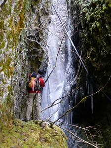 Peaking in to Cynthia Falls