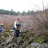 Setting out on the talus slope. <FONT SIZE=1>© Chiyoko Meacham</FONT>