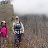 The summit of Table mountain disappears into the clouds behind  us.