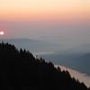 Sunrise on the way down Dog.