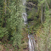 Wauna Falls is mostly hidden in the trees on the West Side of Eagle Creek.