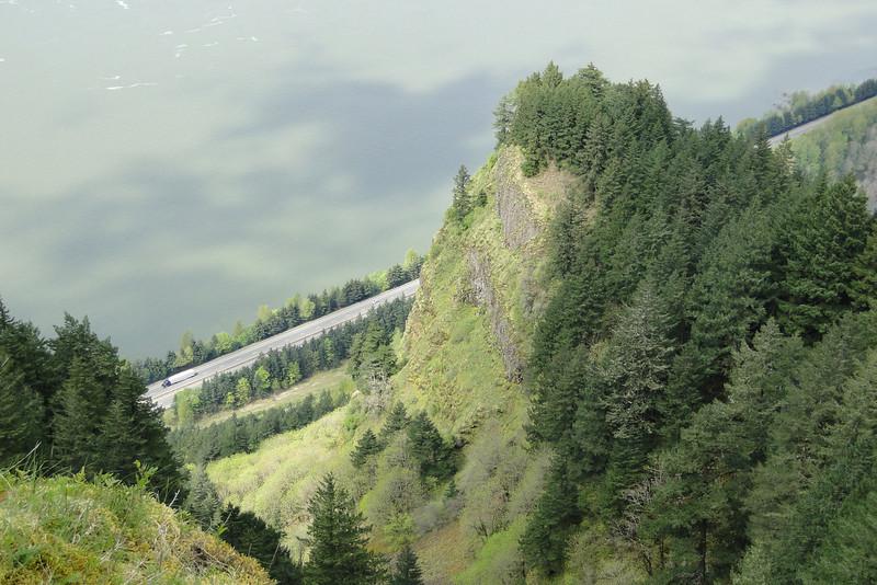 Bickel Overlook, looking down on Waespe Point.