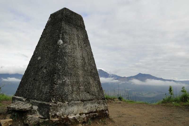 The Wauna View Point Survey Marker, one of three that was used in the construction of Bonneville Dam.
