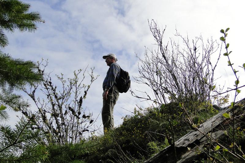 Wauna Ridge<br /> Peter above the Chute.
