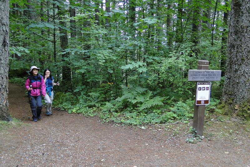 Herman Creek Trailhead.