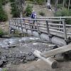 The bridge across Clark Creek on the Elk Meadows trail.