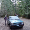 Leaving the trusty old Mazda at the Burnt Lake Trailhead! <FONT SIZE=1>© Eric Smith</FONT>