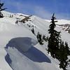Heading up Clark Creek Ridge.<br /> The tree line.