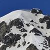 Huge snow cornice on the summit of Hood.