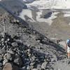 East side moraine glacier access trail.