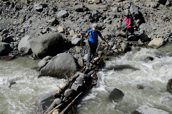 The Timberline Trail Newton Creek Crossing.