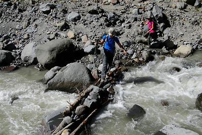 The Timberline Trail Newton Creek Crossing.